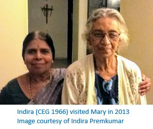 Indira with Mary - with caption