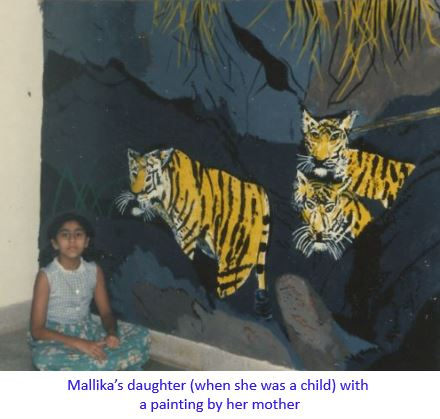 daughter with painting-captioned