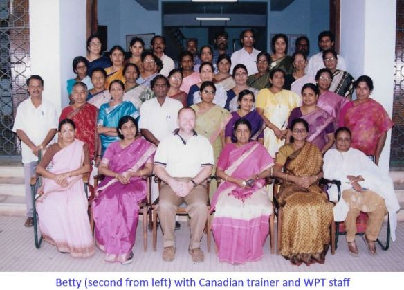 Betty, Prema _ Poly staff with the Canadian trainer-captioned