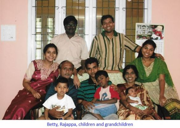 Betty with her family-captioned