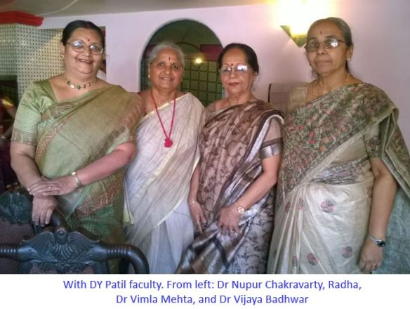 Dr Nupur Chakravarty Radha Dr Vimla Mehta and Dr Badhwar -captioned