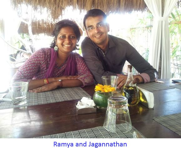 ramya and Jagan captioned