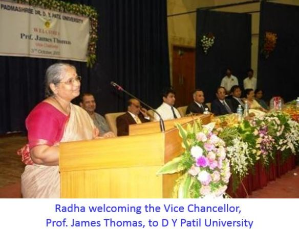 RR COE giving a speech to welcome Vice Chancelor -captioned